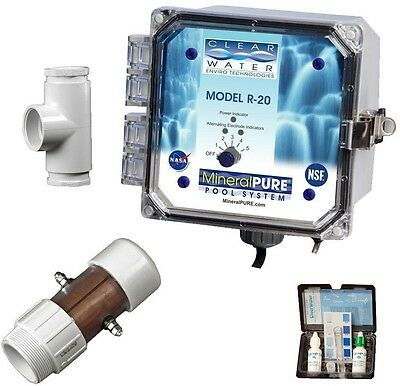 Mineral Pure 20000 Gal. Residential Swimming Pool Spa Water Ionizer Disinfectant