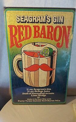 Seagrams Gin Red Baron Puzzle New Sealed Man Cave Drink Party Tyme