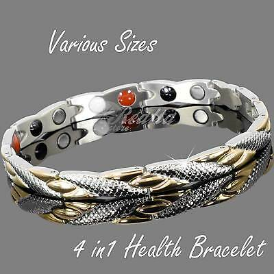 Womens Strong Energy Magnetic Health Bracelets for Arthritis &Balance 4 in1-YGS4