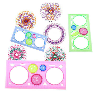 Drawing Art Students Geometric Spirograph Ruler Spiral Tool Stationery