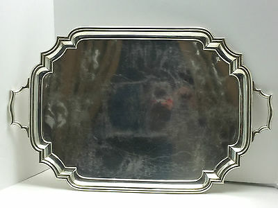Giant Heavy Antique C.s. Harris & Sons Sterling Tray London 1911 8 Plus Pounds !