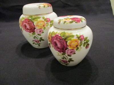 Vintage Stuart china Ginger Jars ROSES  in lovely condition