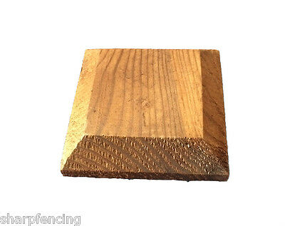 """10 x Post Cap Brown Treated for 4"""" (100mm) posts"""