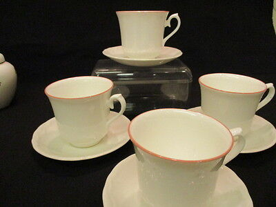 Vintage Queen Anne china Coffee cups and saucers x 4 lovely condition
