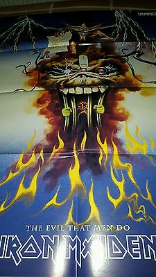 Large IRON MAIDEN the evil men do / clairvoyant POSTER by METAL HAMMER