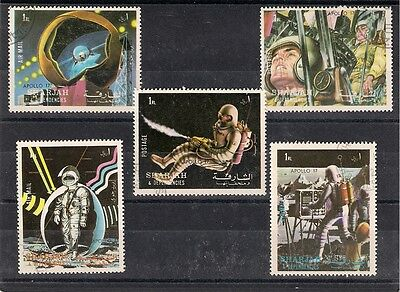 Middle East Sharjah  5 Stamps Space