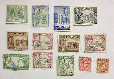 Jamaica 63 stamps mint/used QV to QEII - includes a pair & overprints 3 photos.