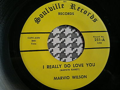 """MARVIO WILSON - I Really Do Love You -  SOULVILLE  45s""""  R&B  Northern  Soul"""