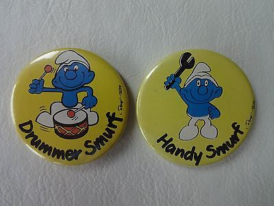 Smurf Badges (1970's/80's) Handy and Drummer
