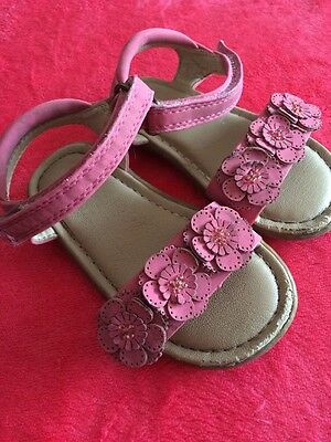 Next Baby Girls Pink Shoes Summer Sandals Size 5
