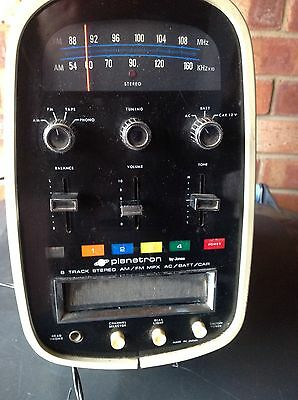 Vintage Retro Planetron 1960's 8 Track And Radio Partially Working