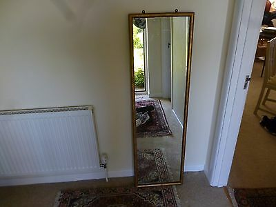 Tall English vintage/antique Mirror, gilded wood.