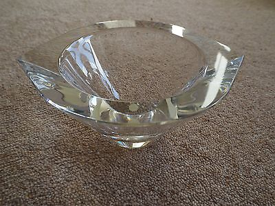 Modern, small, solid lead crystal bowl - for pot pourri / ornament