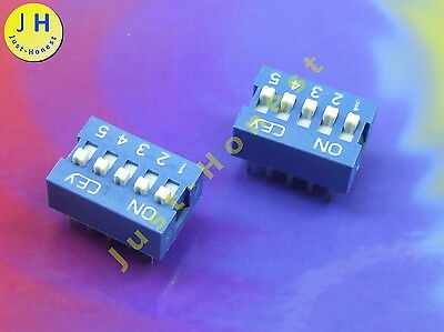 2x DIP Schalter Stk Switch 6 Wege //Ways LATCHING Mikroschalter THT PCB #A1470