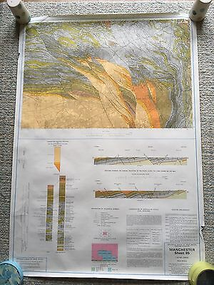 Geological Survey Map 1:50000 MANCHESTER solid sheet 85