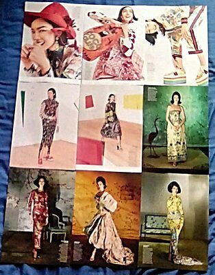 * Supermodel Fei Fei Sun Clippings Pack 30 Full Pages US Vogue Photoshoots + *