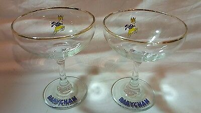 A PAIR OF 1970's BABYCHAM GLASSES