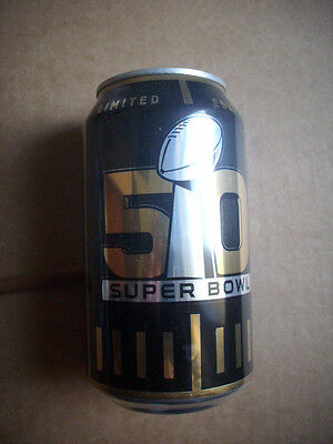 Bud Light Bierdose Super Bowl 50 Denver Broncos Carolina Panthers Regional Issue