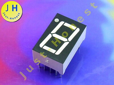 LED Anzeige 7-Segment Numeric Display 1 DIGIT Rot / Red  CC (Kathode) #A1284