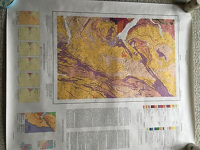 Geological Survey Map 1:50000 KINTAIL solid sheet 72 W