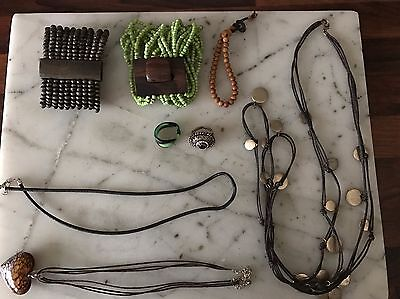 Vintage & Modern Costume Jewellery 8 Pieces Rings,Bracelets,Necklaces Murano