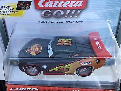 Carrera GO 64050 Carbon Lightning McQueen Car w/NEON Lights 1/43 Scale Slot Car