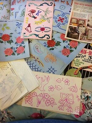 Large Selection Of Vintage Embroidery Transfers