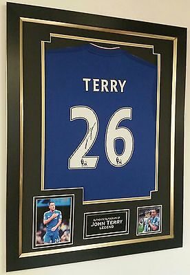 *** Rare John Terry of Chelsea Signed Shirt Autograph Display ***