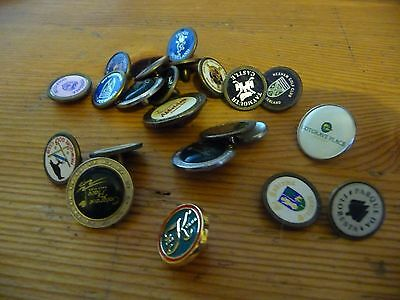 Wonderful collection of 22 metal and Enamel Golf ball Markers