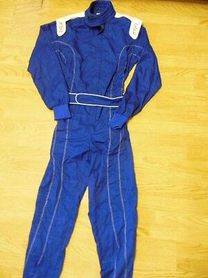 PM Sports Carting Driving Racing Overall Suit Blue Medium