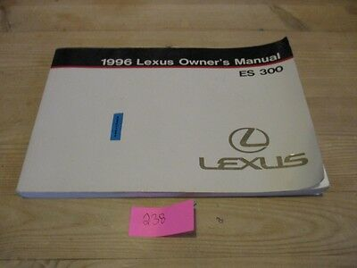 Lexus ES 300 1996 Owners Manual LHD