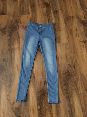 Girls Matalan Blue Skinny Fit Jeans Age 11