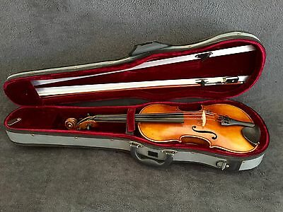 German Antique Violin Circa 1900 Full Size With Case Discounted! Bargain Price!