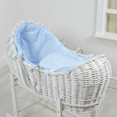 Baby Moses Basket and Stand Rocking Nursery Furniture Blue Sleeping Noah Pod NEW