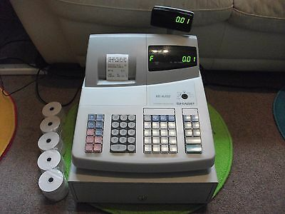 Sharp Cash Register / Till / Epos / Quiet Thermal Printing With Your Shop Info