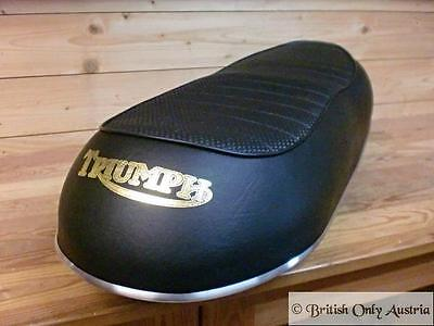 Triumph Dual Seat T120 1967-70.Basket Weave.Made in UK.Vintage.83-1573