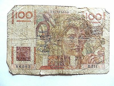 1947 French One Hundred (100) Francs Note