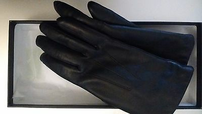 Womens genuine black Leather gloves BHS size small VGC