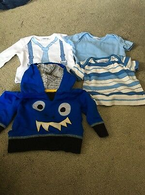 Bundle Of Boys Baby Clothes Size 0-3 Months
