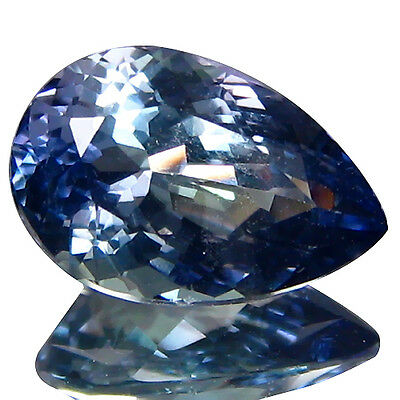 1.87Cts! Magnificent Fire Flashing Natural Tanzanite PeaR Shape Loose Gemstone