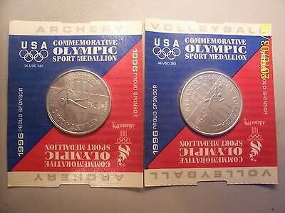 General Mills Cereal Promo 1996 Atlanta Olympics Sport Coin  -  Lot of  2
