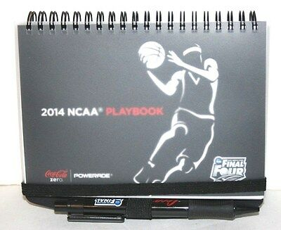 Coke Advertising  2014 Ncaa Playbook & Pen   Coca Cola Basketball March Madness