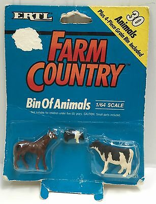 ERTL Farm Country Set of 3 Animals Horse Pig Cow