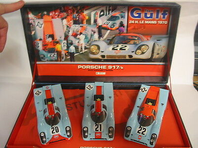 Fly Team Gulf With 3 Cars 24Hr Le Mans 1970  Stunning Mint Boxed