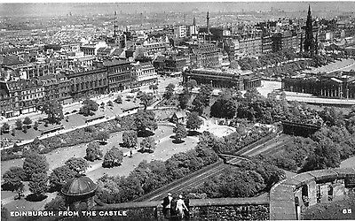 Edinburgh  Postcard Posted 1959   From The Castle (B93)
