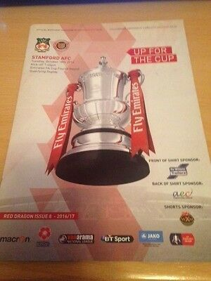 2016/17 Wrexham V Stamford - Fa Cup Replay