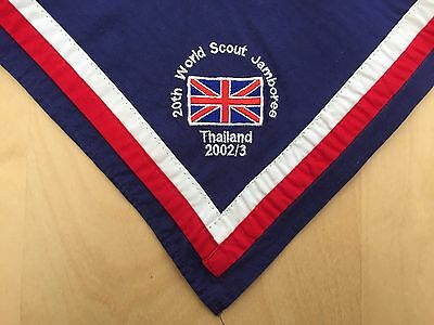 20th World Scout Jamboree 2003 Official UK Embroidered Neck scarf / Kerchief