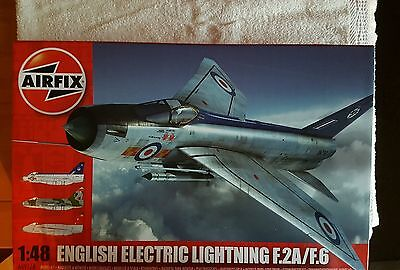 Airfix 1/48th scale English Electric Lightning F.2A/F.6 kit with lots of extras.