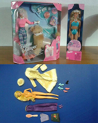 Barbie & Ginger + Barbie Perla di mare RARE NRFB