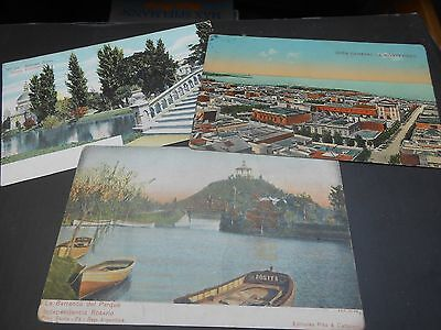 3 old colour postcards of Argentina